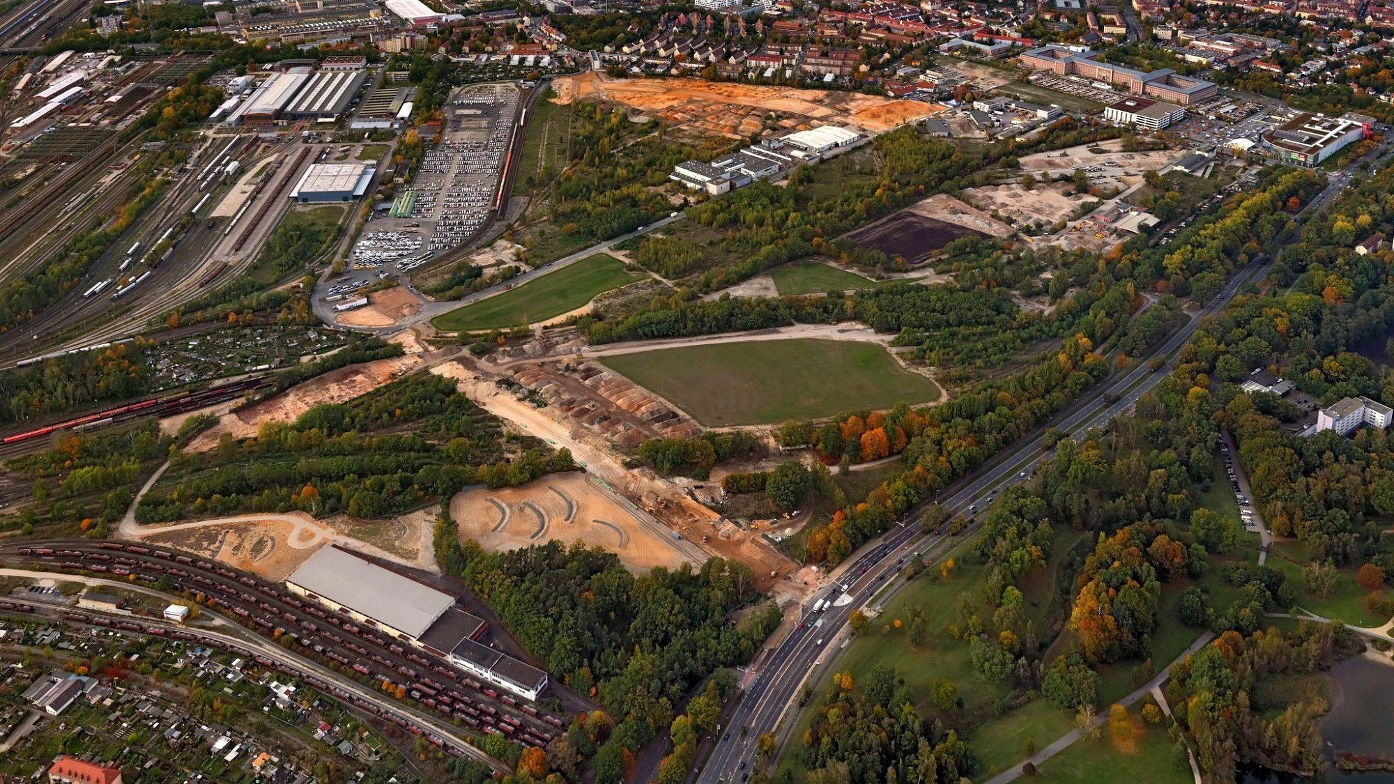 Luftbild Baustelle